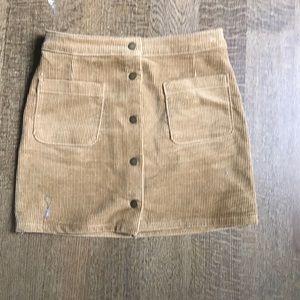 NWOT corduroy skirt